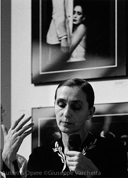 Pina Bausch, 1990 ©Giuseppe Varchetta  da Autori & Opere, Edizioni del Foglio Clandestino 2016